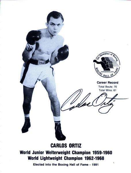 ORTIZ, CARLOS SIGNED PROMOTIONAL PHOTO