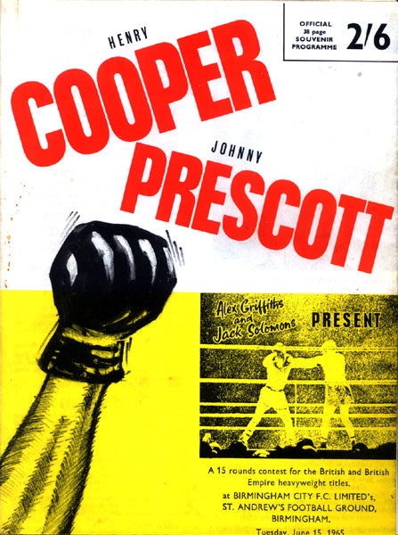 COOPER, HENRY-JOHNNY PRESCOTT II OFFICIAL PROGRAM (1965)