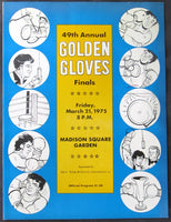 1975 GOLDEN GLOVES FINALS OFFICIAL PROGRAM (COONEY, DAVIS, JR., ROONEY)