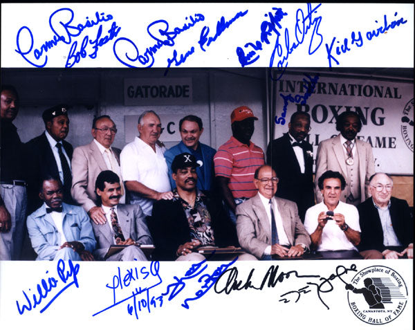 BOXING HALL OF FAME SIGNED PHOTOGRAPH (ARGUELLO, MOORE, GAVILAN, SADDLER, PEP & OTHERS)
