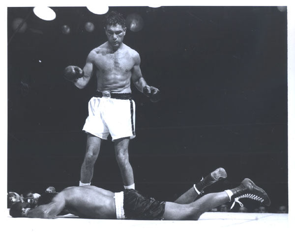 ROBINSON, SUGAR RAY-JOEY MAXIM ORIGINAL WIRE PHOTO (1952)