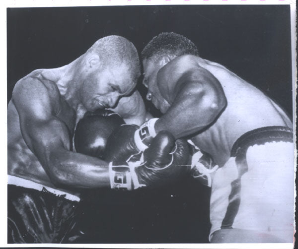 MACHEN, EDDIE-HAROLD JOHNSON ORIGINAL WIRE PHOTO (1961)