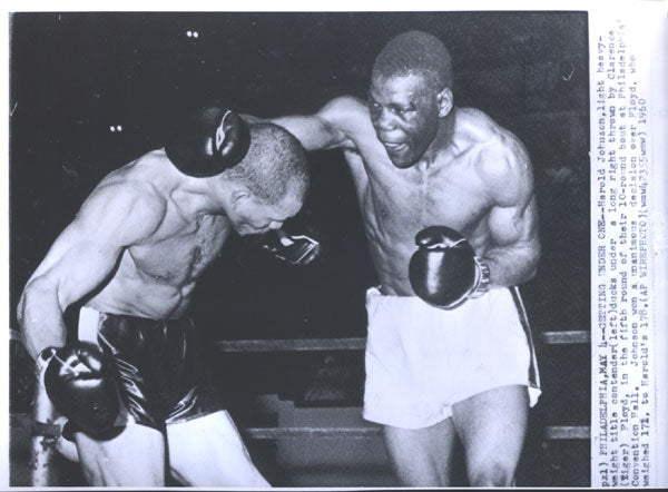 JOHNSON, HAROLD-CLARENCE FLOYD ORIGINAL WIRE PHOTO (1960)