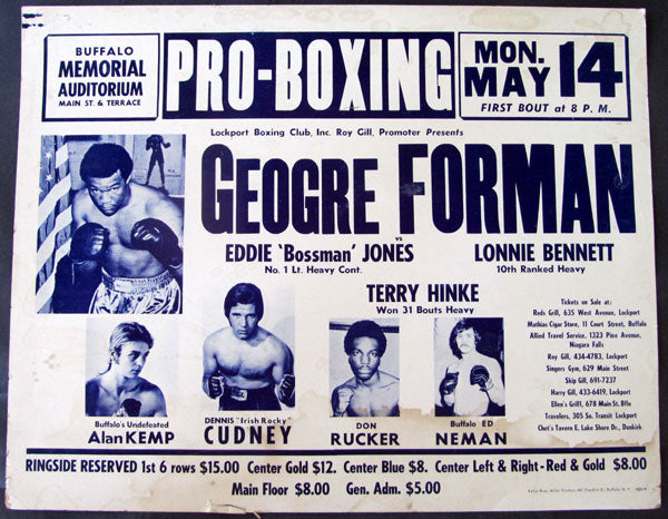 FOREMAN, GEORGE EXHIBITION POSTER (1973-AS CHAMPION)