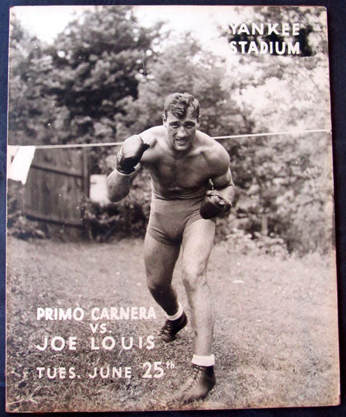 LOUIS, JOE-PRIMO CARNERA ORIGINAL ON SITE POSTER (1935)