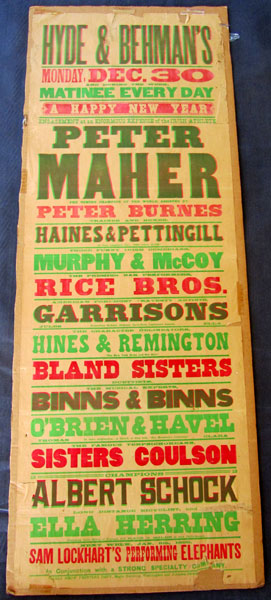 MAHER, PETER  THEATRICAL POSTER (1895)