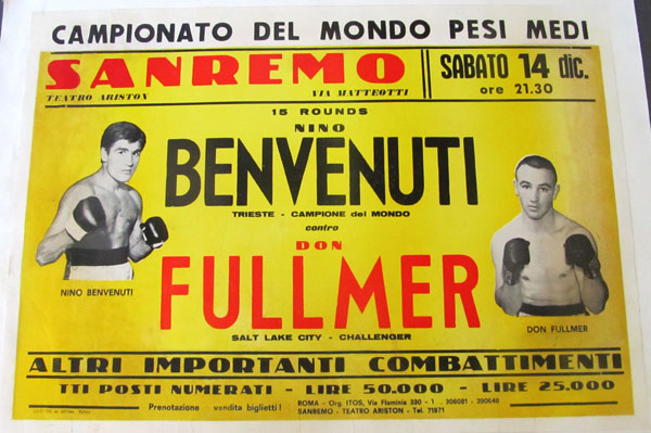 BENVENUTI, NINO-DON FULLMER ORIGINAL ON SITE POSTER (1968)