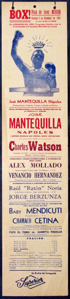 NAPOLES, JOSE-CHARLES WATSON ORIGINAL ON SITE POSTER (1967)
