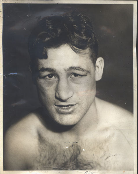PETROLLE, BILLY ORIGINAL WIRE PHOTO (1932-PREPARING FOR CANZONERI)