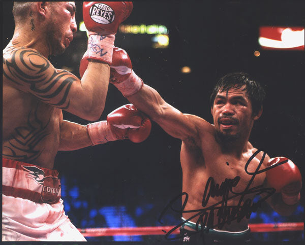 PACQUIAO, MANNY SIGNED PHOTO