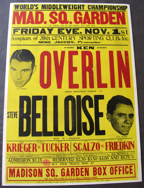 OVERLIN, KEN-STEVE BELLOISE ON SITE POSTER (1940)