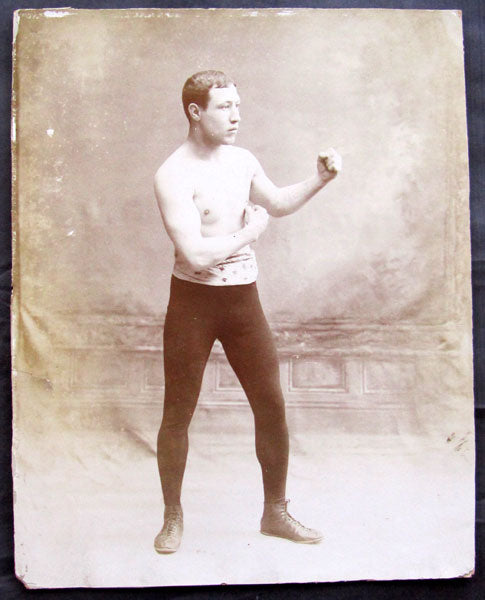 "MCFADDEN, GEORGE ""ELBOWS"" LARGE FORMAT ANTIQUE PHOTOGRAPH"