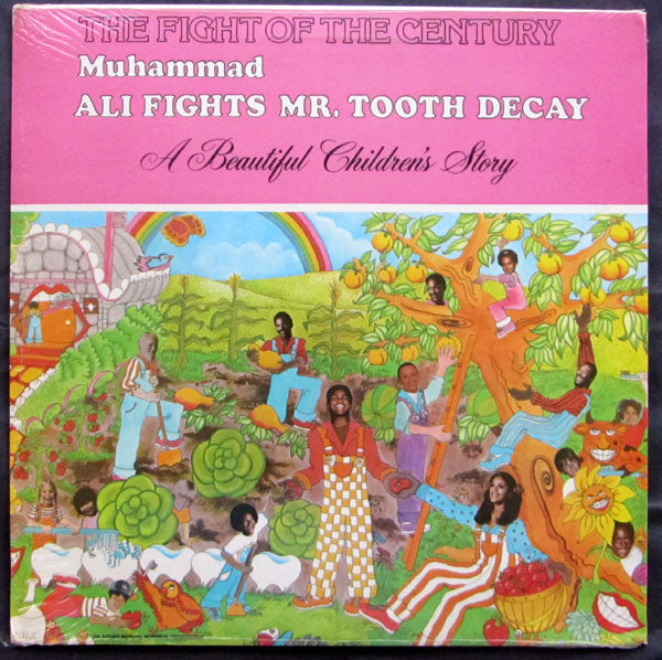 ALI, MUHAMMAD FIGHTS MR. TOOTH DECAY RECORD ALBUM (IN ORIGINAL PACKAGE-1976)