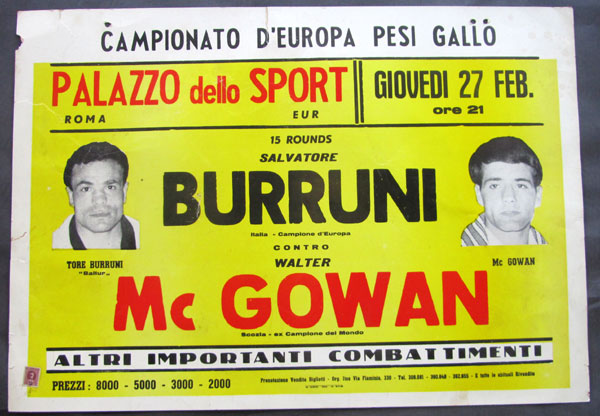 BURRUNI, SALVATORE-WALTER MCGOWAN ON SITE POSTER (1964)