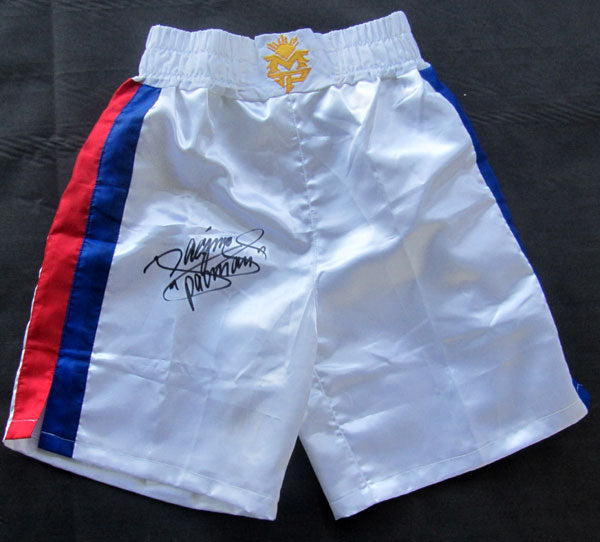 PACQUIAO, MANNY SIGNED BOXING TRUNKS