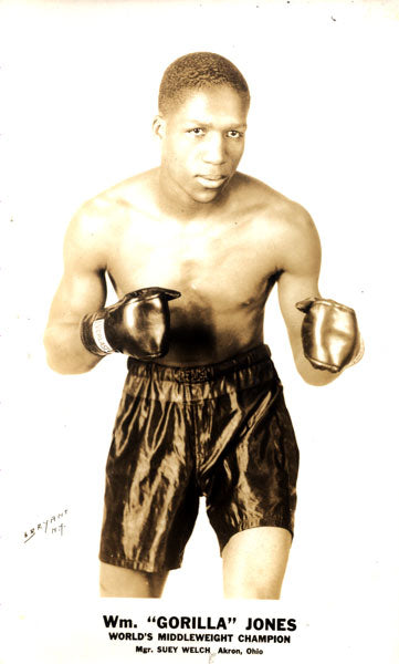 "JONES, WILLIAM ""GORILLA"" ORIGINAL PROMTIONAL PHOTOGRAPH (AS CHAMPION)"