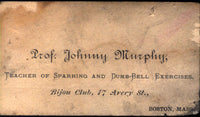 MURPHY, PROFESSOR JOHNNY BUSINESS CARD (JAKE KILRAIN'S TRAINER AND SECOND)