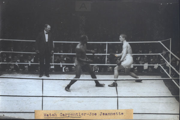 CARPENTIER, GEORGES-JOE JEANNETTE ORIGINAL WIRE PHOTO (1914)