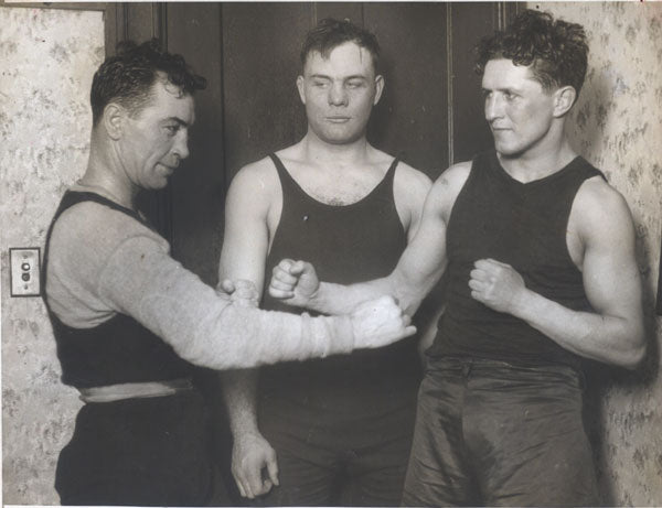 BRITTON, JACK-FLOYD JOHNSON-JOE BENJAMIN ORIGINAL WIRE PHOTO (1925)