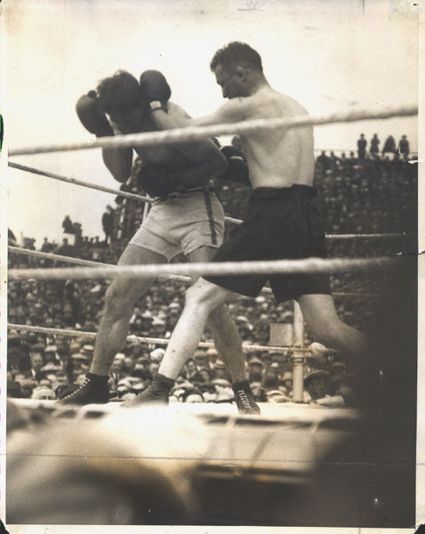 CARPENTIER, GEORGES-TOMMY GIBBONS ORIGINAL WIRE PHOTO (1924)