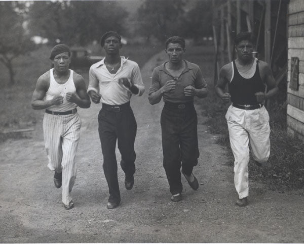 CHOCOLATE, KID ORIGINAL ANTIQUE PHOTO (RUNNING IN TRAINING CAMP)