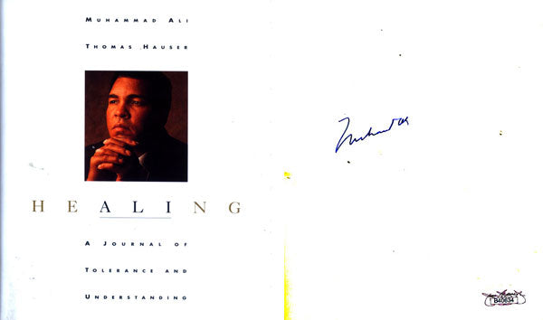 ALI, MUHAMMAD SIGNED BOOK HEALING (BY THOMAS HAUSER)