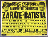 ZARATE, CARLOS-DANILO BATISTA ON SITE POSTER (1977)
