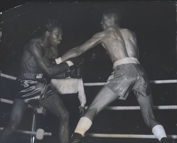 ROBINSON, SUGAR RAY-RANDY TURPIN I ORIGINAL WIRE PHOTO (2ND ROUND-1951)