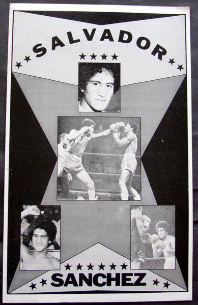 SANCHEZ, SALVADOR ORIGINAL POSTER (SOLD AT AZUMAH NELSON FIGHT-1982)