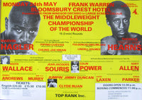 HAGLER, MARVIN-THOMAS HEARNS CLOSED CIRCUIT POSTER (1985)