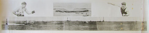 DEMPSEY, JACK-TOMMY GIBBONS ORIGINAL PANORAMA PHOTO (1923)