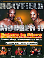 HOLYFIELD, EVANDER-MICHAEL MOORER II OFFICIAL PROGRAM (1997)