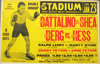 "BATTALINO, BAT-EDDIE SHEA & JACKIE ""KID"" BERG-GOLDIE HESS ON SITE POSTER (1931)"