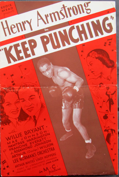 ARMSTRONG, HENRY IN KEEP PUNCHING MOVIE BOOKLET (1939)