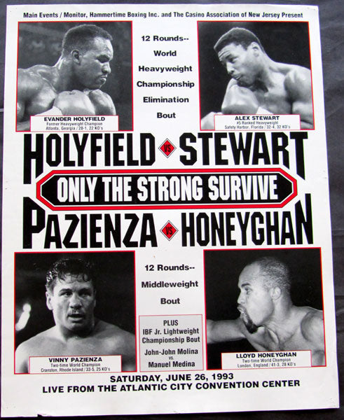 HOLYFIELD, EVANDER-ALEX STEWART ON SITE POSTER (1993)