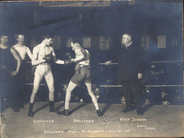 "SULLIVAN, MIKE ""TWIN""-JIMMY GARDNER ORIGINAL ANTIQUE PHOTO (1905-SQUARING OFF)"