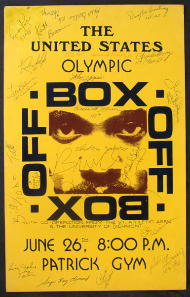 1976 OLYMPIC BOX OFF VINTAGE SIGNED POSTER