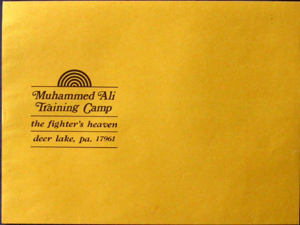 ALI, MUHAMMAD LARGE TRAINING CAMP ENVELOPE (DEER LAKE)