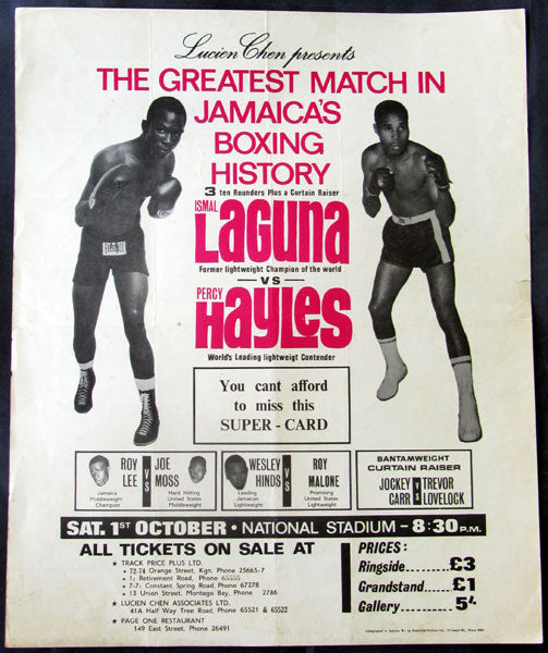 LAGUNA, ISMAEL-PERCY HAYLES ON SITE POSTER (1966)