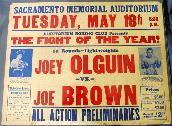 "BROWN, JOE ""OLD BONES""-JOEY OLGUN ON SITE POSTER (1965)"