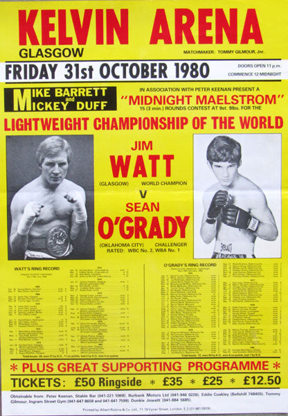 WATT, JIM-SEAN O'GRADY ON SITE POSTER (1980)