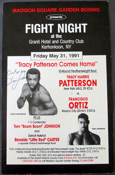 PATTERSON, TRACY-FRANCISCO ORTIZ SIGNED ON SITE POSTER (1991)