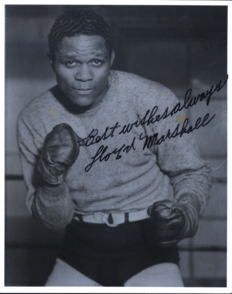 MARSHALL, LLOYD SIGNED PHOTO (HALL OF FAMER)