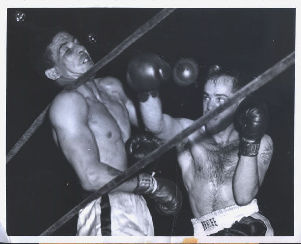 "OLSON, CARL ""BOBO""-RANDY TURPIN WIRE PHOTO (1953-10TH ROUND)"