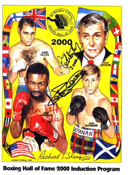 2000 BOXING HALL OF FAME PROGRAM (SIGNED)