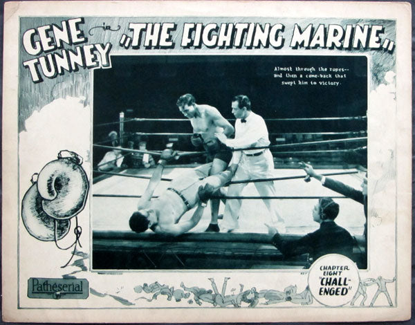 TUNNEY, GENE MOVIE LOBBY CARD (THE FIGHTING MARINE-1926)