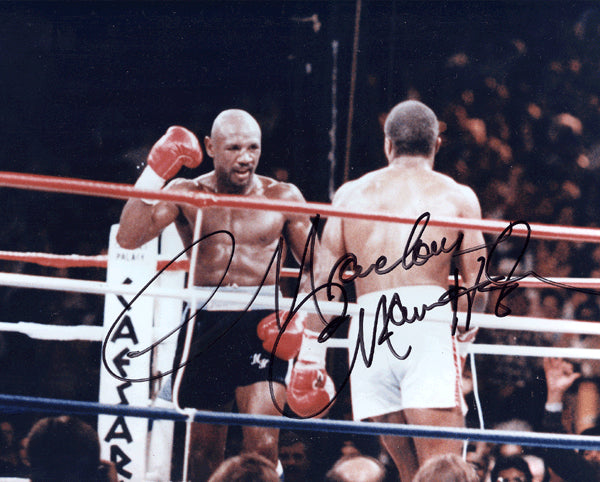 HAGLER, MARVELOUS MARVIN SIGNED PHOTO
