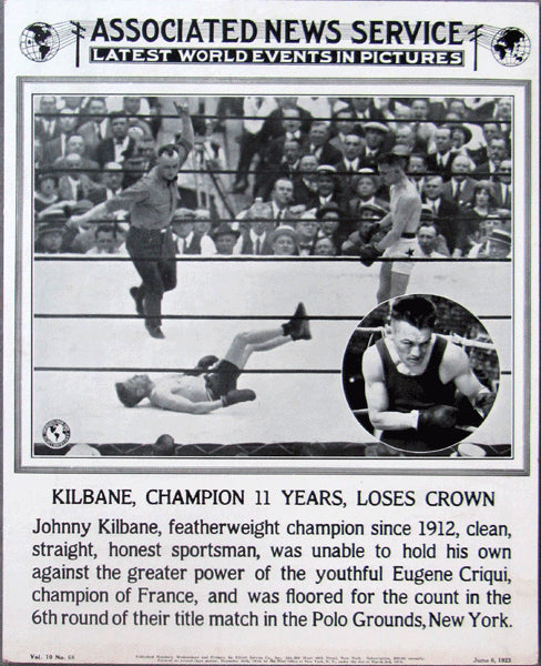 CRIQUI, EUGENE-JOHNNY KILBANE POST FIGHT POSTER (1923)