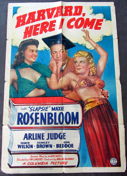 ROSENBLOOM, MAXIE MOVIE POSTER (HARVARD HERE I COME-1941)