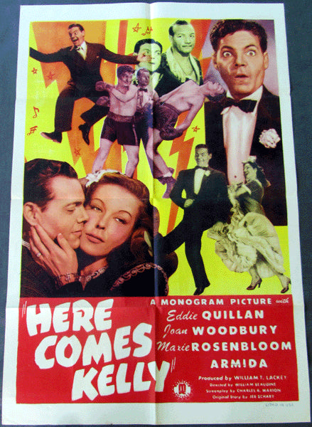 ROSENBLOOM, MAXIE MOVIE POSTER (HERE COMES KELLY-1943)